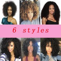 New hot kinky curl simulation human hair Wig kinky curly ful...