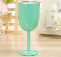 Wine Glasses 10oz 9 colors Stainless Steel Vacuum Double lay...