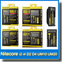 Genuine Nitecore I2 I4 D2 D4 UM10 UM20 Digi Caricatore Intellicharger Display LCD E Sigarette Caricabatterie per 18650 18350 18500 14500 Batteria