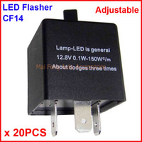 20PCS CF14-KT LED Flasher Adjustable Color 3 Pin Electronic Relay Module Fix Auto LED Turn Signal Error Flashing Blinker 12V 0.02A TO 20A