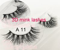 A11 3D mink eyelashes long thick eyelashes 3D stripe eyelash...