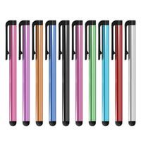 Pluma de lápiz capacitiva universal al por mayor 1000PCS / LOT para Iphone5 5S 6 6s 7 7plus pluma del tacto para el teléfono celular para la tableta diversos colores