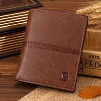 Portafoglio del portafoglio del portafoglio del portafoglio della carta dell'ID del credito di credito di Bifold degli uomini