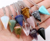 60pcs Natural Gemstone Pendant Necklace Crystal Healing Chak...