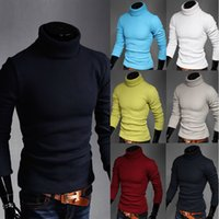 2014 fashion long- sleeved high- necked knit pullover sweater ...
