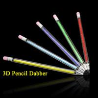 Herramienta Dabber vidrio Pyrex Estilo Forma nueva 3D Diseño de cristal Dabber Lápiz 7 colores para las plataformas petrolíferas Bong pipa de fumar