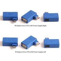 90 Degreee USB OTG Micro Adaptador Cabeça Pode Ser Conectado Externamente Yo o Painel U Linha de Alimentação Direita + Esquerda