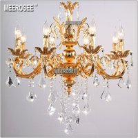Classic Crystal Chandelier Candle Lighting Fixture Golden or...
