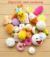 Squishy Simulation PU bread cake donut Phone Straps Slow Ris...