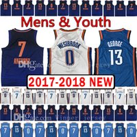2017- 18 New Men' s Youth 0 Russell Westbrook 13 Paul Geo...