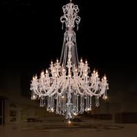 45-рука церковь люстра Хрустальное освещение светодиодные свечи очень большой современный хрустальная люстра отель холл светодиодные люстры люстры де Кристал