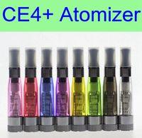 10 stücke pro los CE4 + plus Zerstäuber 1,6 ml austauschbare spule 8 farben tank vaporizer clearomizer für ego batterie EVOD X6 X9