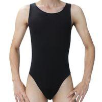 Atacado-Moda Hot Men Sexy mankini Collant Underwear Undershirt homens bodysuit Onesies Thong Briefs