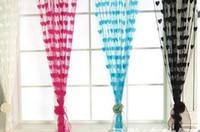 Décor de mariage rideau amour coeur gland écrans diviseurs de chambre porte de poche rideaux accessoires de décoration de fête rideaux cadeaux colorés se mélange