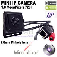 mini cámara ip ip mini 1.0MP ONVIF HD H.264 P2P Teléfono móvil Vigilancia CCTV Cámara IP 2.8mm Pinhole lens hideen