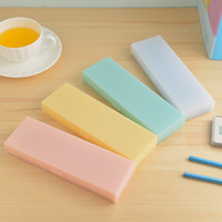 Large pencil case student stationery candy color case matte ...