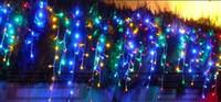 16M DROOP 0.65m 480 LED Eiszapfen String Licht Weihnachten Hochzeit Weihnachten Party Dekoration Schneevorhang Licht und Heckstecker AC.110V-220V