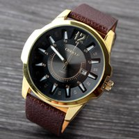 Wholesale- CURREN Men' s Business casual watch date Stain...