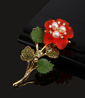 Diamond brooch badge Korea Korean jewelry lady plant flowers...