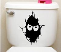 Мультфильм Вики выражение туалет наклейка горячий продавать смешные черный масках Face Art Decor мода туалет украшение аппликация