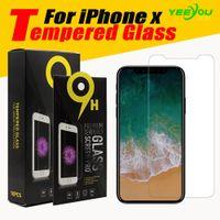 لحامي شاشة الزجاج المقسى من iPhone X / 12 ل iPhone 11 / XR for Galaxy J3 Prime 0.33mm 2.5D Anti-Sheatter مع التعبئة والتغليف