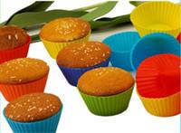 Muffin al silicone Focaccina al cioccolato Fodera al bicchierino Forme per muffin per muffin 6 pezzi