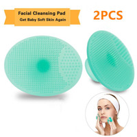 Facial Cleaning Pads Flexible Silicone Scrubbers Face Skin C...