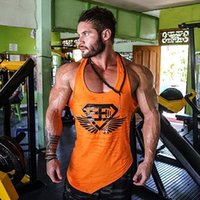 Wholesale- Fashion Men Gyms Sporting Cotton Tank Top Thin St...