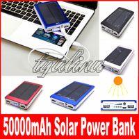 高容量50000 Mahの太陽充電器とバッテリー50000mahのソーラーチャージャーパネルデュアル充電ポート携帯電話MP3 MP4のためのポータブルパワーバンク