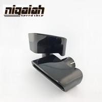 أعلى جودة 304 الفولاذ المقاوم للصدأ / أسود كرومينج سيارة أنابيب العادم كاتم الصوت تلميح لسيارات BMW F18 F10 5-Series 2013 2014