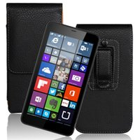 """1PCS Smooth Pattern PU Leather Belt Clip Skin Cover Case for Microsoft Lumia 640 XL 5.7"""" Phone Bags"""