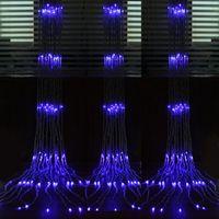 6m * 3m 640 Waterfall String rideau de rideau de rideau de rideau d'eau Flux d'eau de Noël fête de mariage décoration fée fée filet lumières imperméables