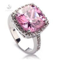 Classic pink Cubic Zirconia fashion Silver Plated RING R555 ...