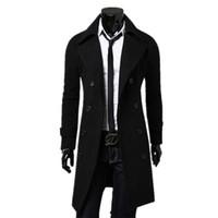 Autunno-2015 Vendita calda Nuovo Modo Trench Moda uomo Cappotto lungo Cappotto da uomo Cappotto di lana uomo Cappotto di lana Uomo Capispalla