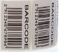 fertigen Sie sigle Farbe QR-Code oder Barcode-Druck beschichteten selbstklebenden Aufkleber