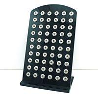 Nuovo espositore JINGLANG per bottoni a pressione 12mm con bottone nero acrilico intercambiabile per gioielli
