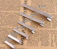 Atacado DIY Barrettes Clipes de Cabelo Grande Metal Grande Plano Jacaré Clipe Cabeleireiro Acessórios 100 Pçs / Lote A4190