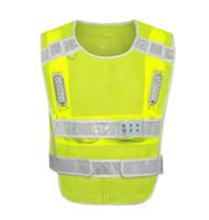 Indumenti riflettenti di avvertimento riflettenti della maglia di sicurezza riflettente di riciclaggio LED di riciclaggio multifunzionali