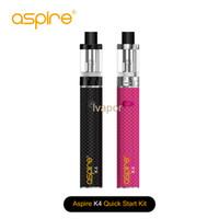 Autentica Aspire K4 Quick Start Kit Con 2000mah Con Cleito serbatoio K4 kit Vape batteria Ecig DHL libero