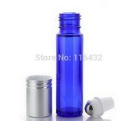 10 ml bleu cobalt rouleau de verre épais sur les huiles essentielles bouteille Aromathérapie + Rouleau à billes en métal 300 PCS / LOT BY DHL Ship - Wholesale