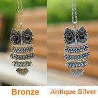 Korea Adorn Article Vintage Owl Pendants Necklace, Ancient th...