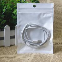 sacchetto del pacchetto bianco borsa cerniera chiaro auto sigillo 8 * 13cm / lotto caso bag 100pcs del telefono con il foro del gancio