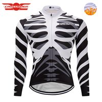 Skeleton Bone pro Winter Cycling Jersey Long Ropa Ciclismo M...