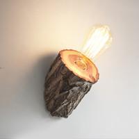 북유럽 나무 벽 램프 목조 침실의 침실 크리 에이 티브 통로 나무 단단한 나무 그루터기 조명 ZB0001
