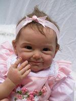 """22 """"Vinilo de silicona Reborn Baby Doll Juguete educativo Suave tacto suave Cuerpo de tela"""