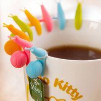 Мини улитка чайный пакетик держатель улитка чайный пакетик вешалка Силиконовый фильтр чай фильтр фиксаж чашки Различитель инструменты красочные Мяу