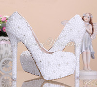 Fashion Wedding Shoes Beautiful Luxurious Elegant Pearl Hone...