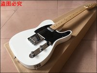 Hot!!! white tel guitar, 22 frets maple Fingerboard Chinese ...