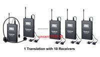 Takstar WTG-500 беспроводная акустическая система передачи тур руководство синхронный перевод аудио-визуальный Eduation 1 передатчик 10 приемников
