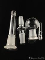 Narghilè di piattaforma petrolifera da 14,5 mm per il tubo dell'acqua Bong di vetro con il downstem adattatore dome chiodo un set